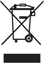 WEEE Symbol durchgestrichene Mülltonne mit Balken